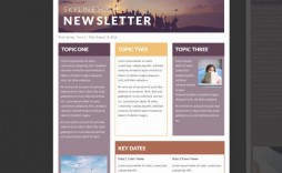 002 Unforgettable Free Newsletter Template For Word 2010 Photo