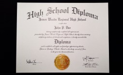 002 Unforgettable Free Printable High School Diploma Template Def  With Seal