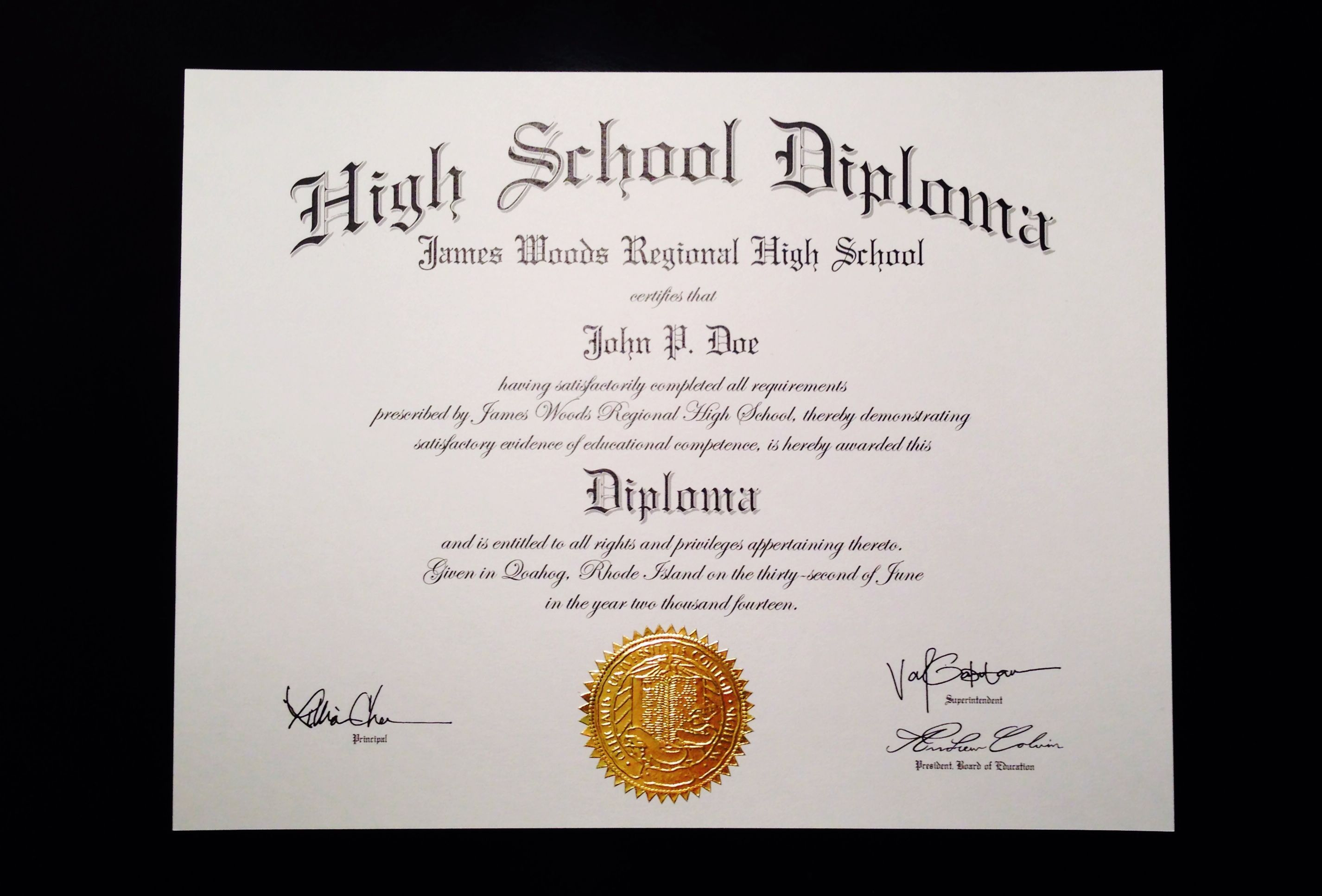 002 Unforgettable Free Printable High School Diploma Template Def  With SealFull