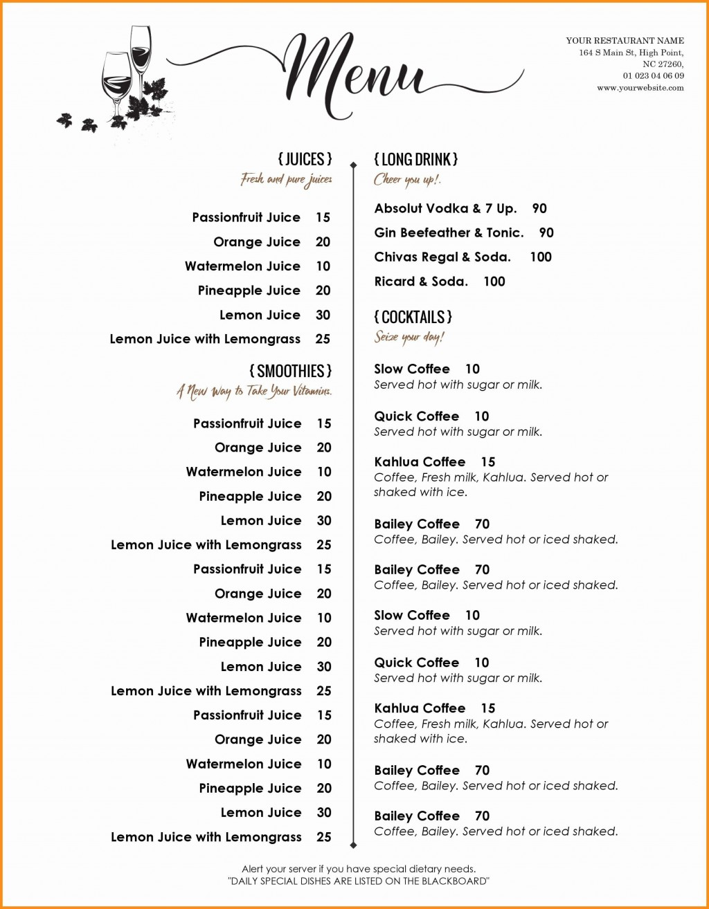 002 Unforgettable Free Printable Menu Template Design  For Dinner Party FamilyLarge