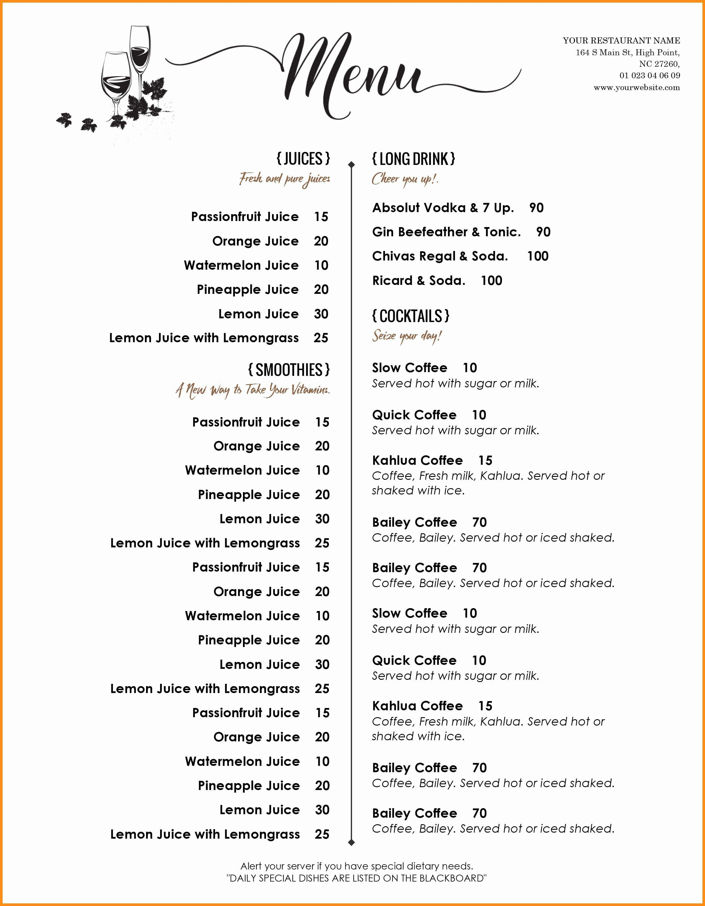 002 Unforgettable Free Printable Menu Template Design  For Dinner Party FamilyFull