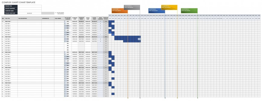 002 Unforgettable Gantt Chart Excel Template Download Idea  Simple Free
