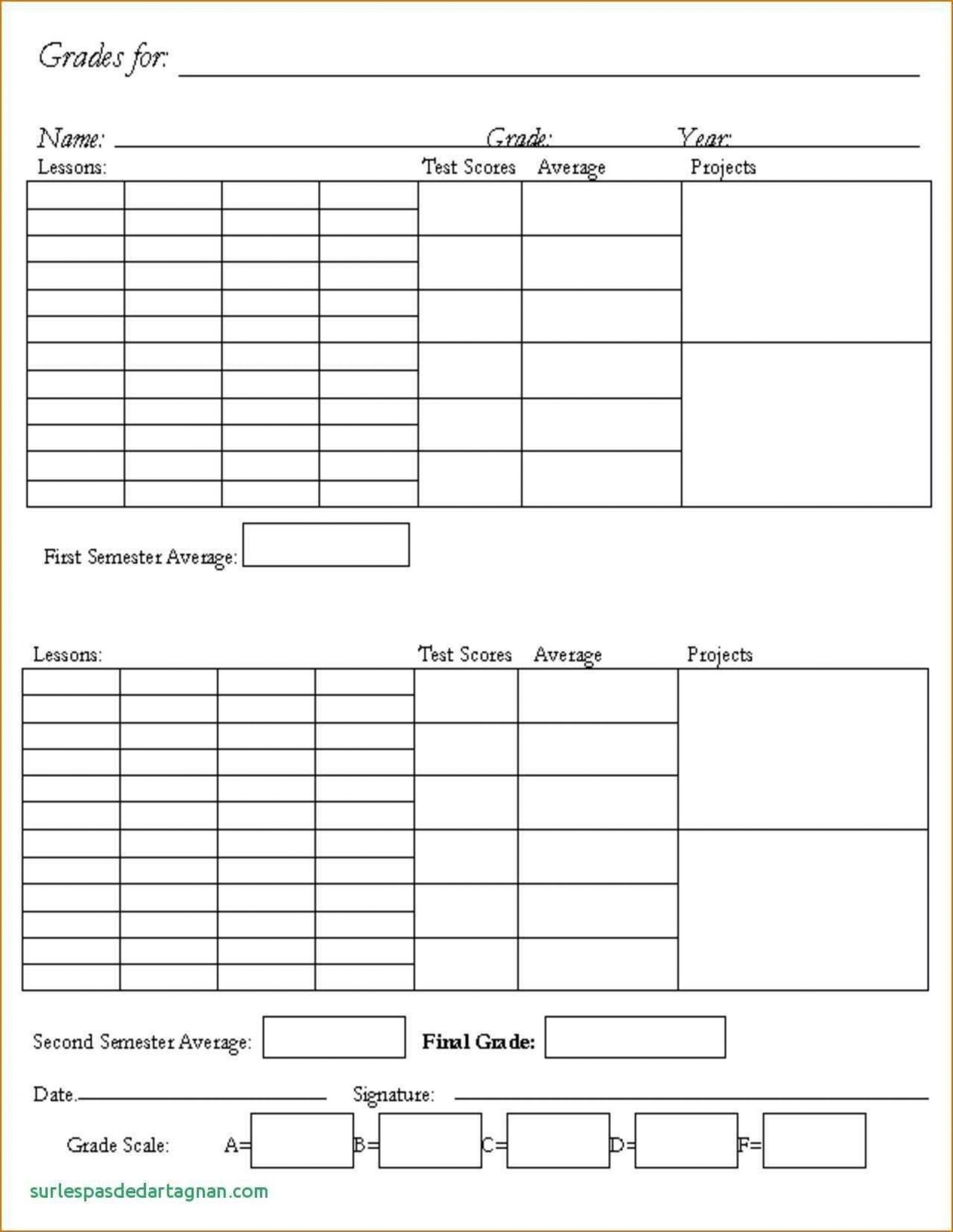 002 Unforgettable Homeschool Middle School Report Card Template Design  8th Grade Transcript1920