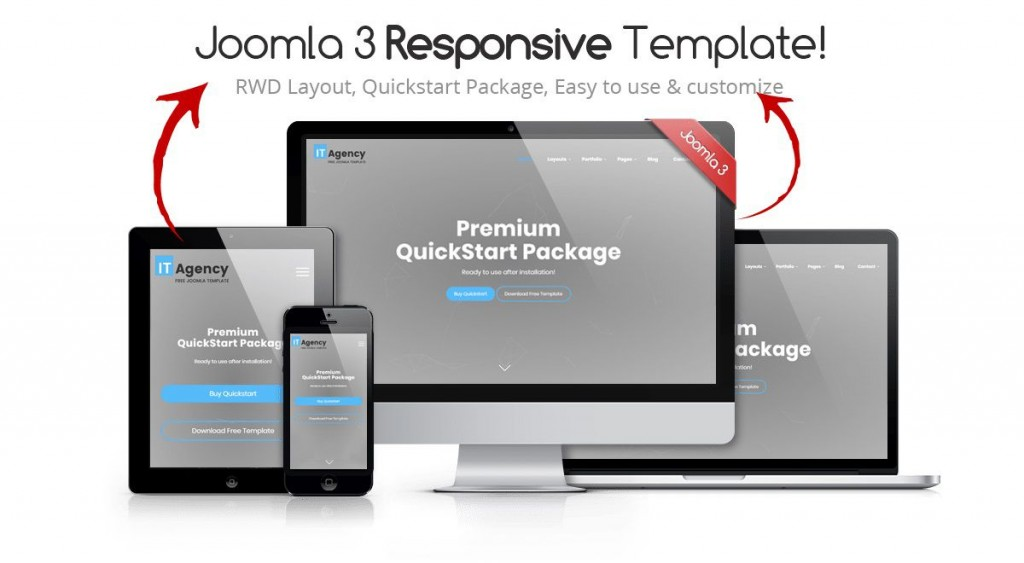 002 Unforgettable Joomla Responsive Template Free Example  3.0 Download Busines 3Large