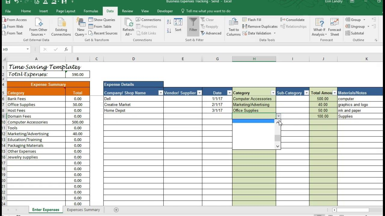 002 Unforgettable Monthly Busines Expense Template Design  Sheet Excel PdfFull