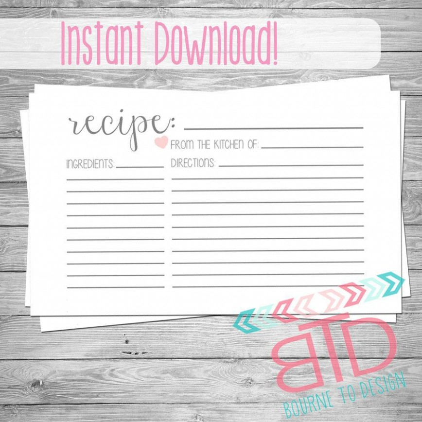 Blank Recipe Card Template For Word from www.addictionary.org