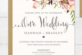 002 Unforgettable Printable Wedding Invitation Template High Definition  Free For Microsoft Word Vintage