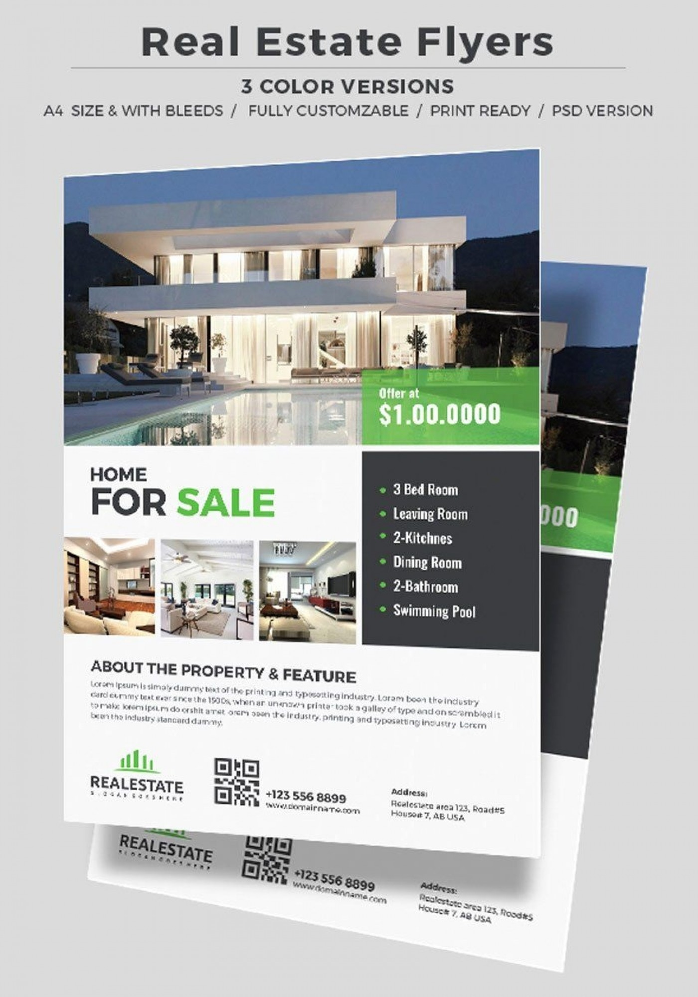 002 Unforgettable Real Estate Advertising Template Photo  Ad Newspaper Classified1400