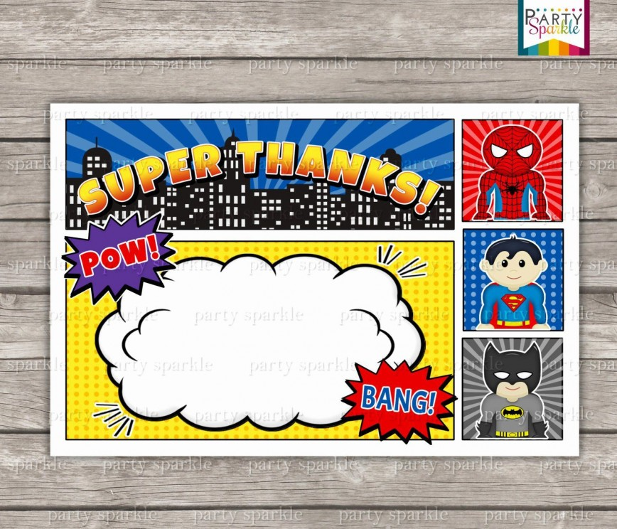 002 Unforgettable Superhero Birthday Invitation Template Free Inspiration 868