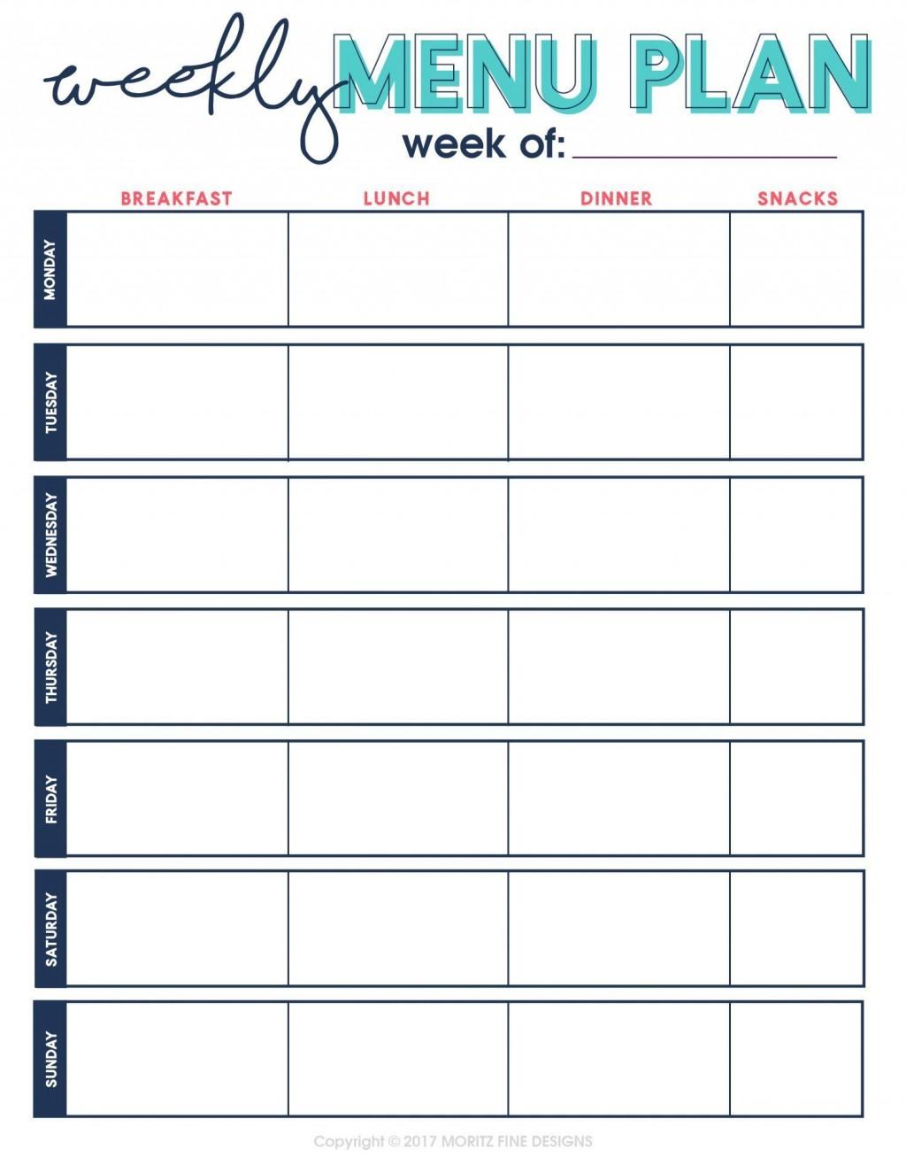 002 Unforgettable Weekly Eating Plan Template Concept  Food Planner Excel Meal DownloadLarge