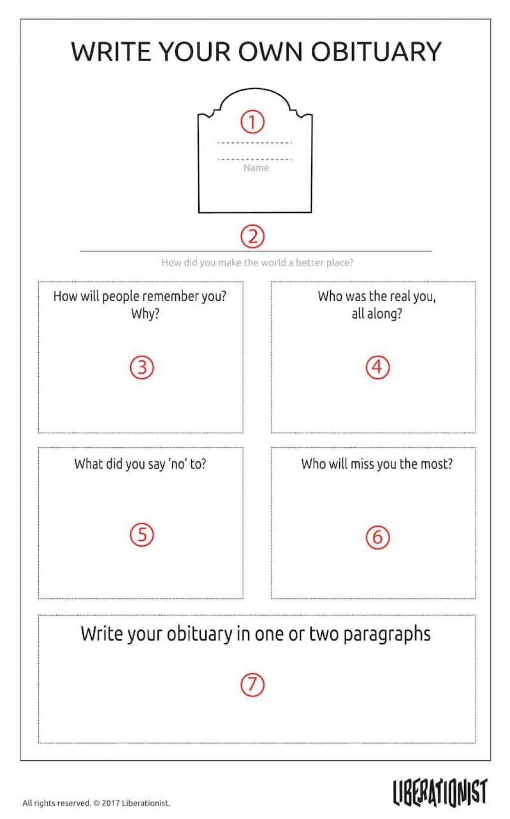 002 Unforgettable Write Your Own Obituary Template High Resolution Large