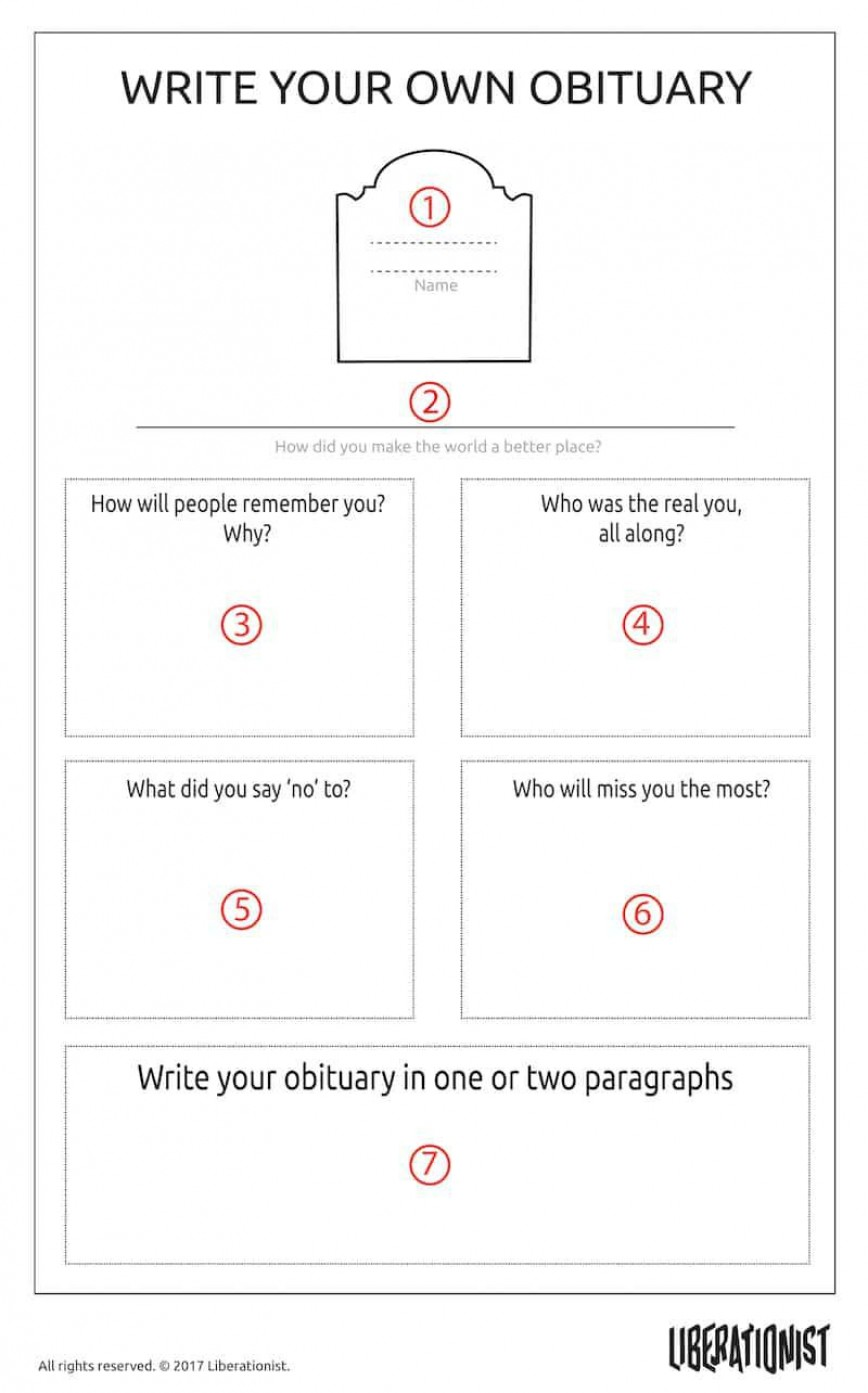 002 Unforgettable Write Your Own Obituary Template High Resolution