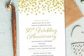 002 Unique 50th Anniversary Invitation Template Design  Wedding Microsoft Word Free Download