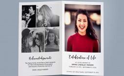 002 Unique Celebration Of Life Program Template Free Sample  Editable Word