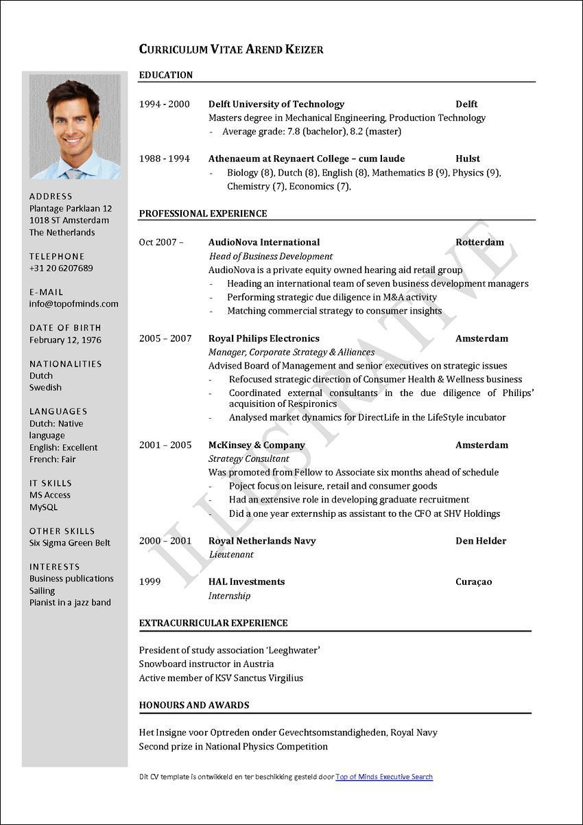 002 Unique Curriculum Vitae Template Free Photo  Download South Africa Format Pdf SampleFull