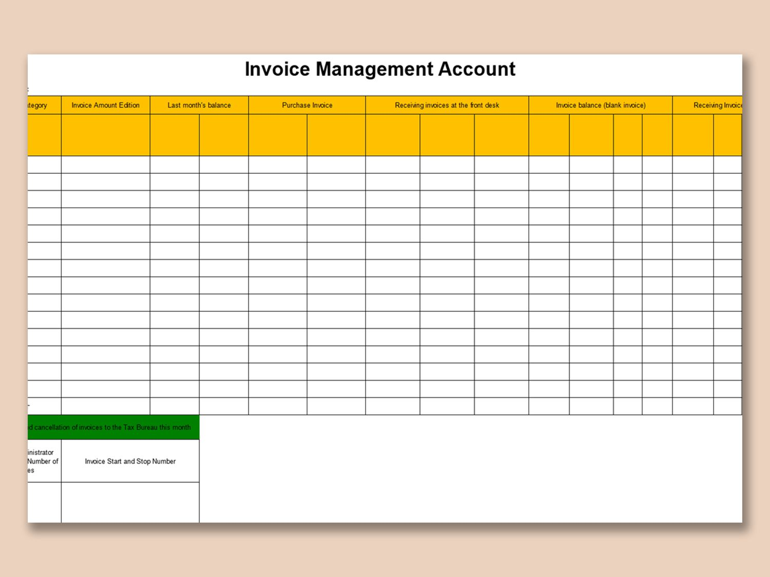 002 Unique Excel Invoice Tracking Template Download Sample Full