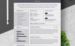 002 Unique Free One Page Resume Template High Resolution  Word Download 2018 Best