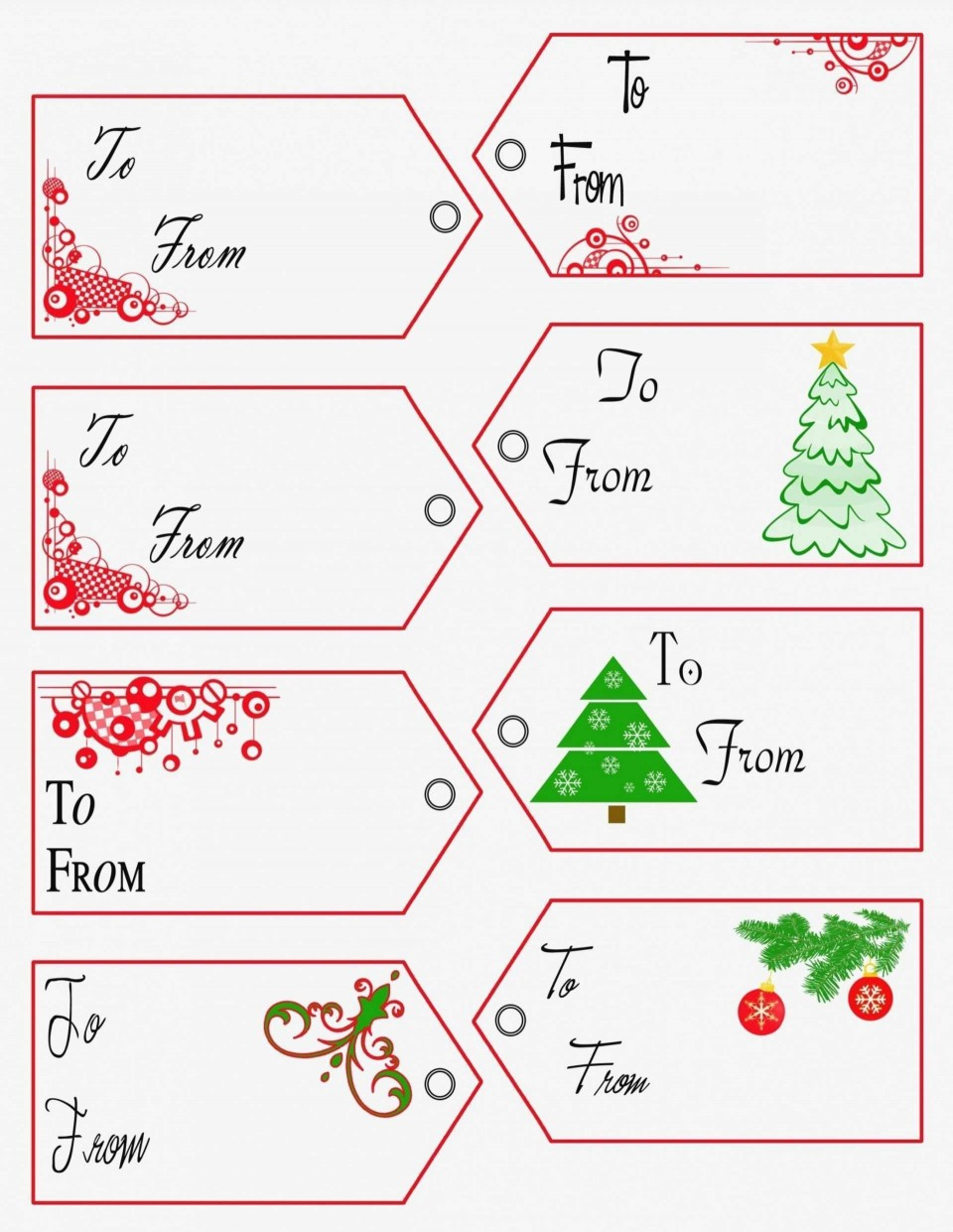 002 Unique Free Printable Christma Tent Card Template Design 960