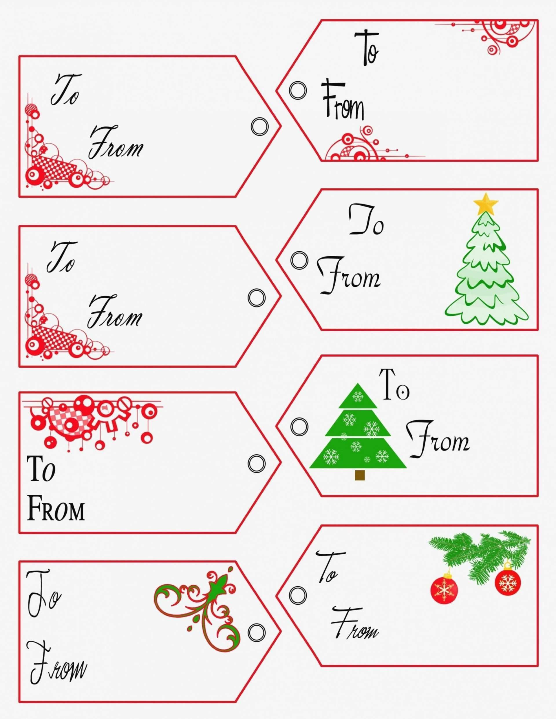 002 Unique Free Printable Christma Tent Card Template Design Full