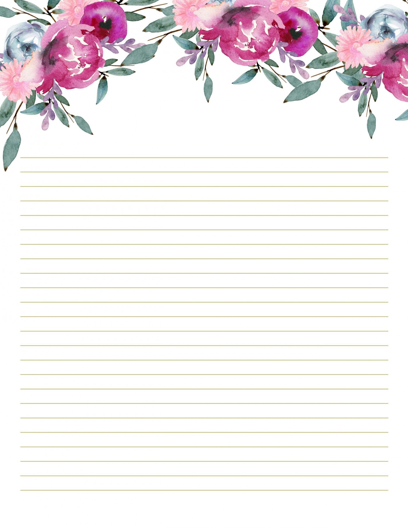 002 Unique Free Printable Stationery Paper Template High Resolution 1400
