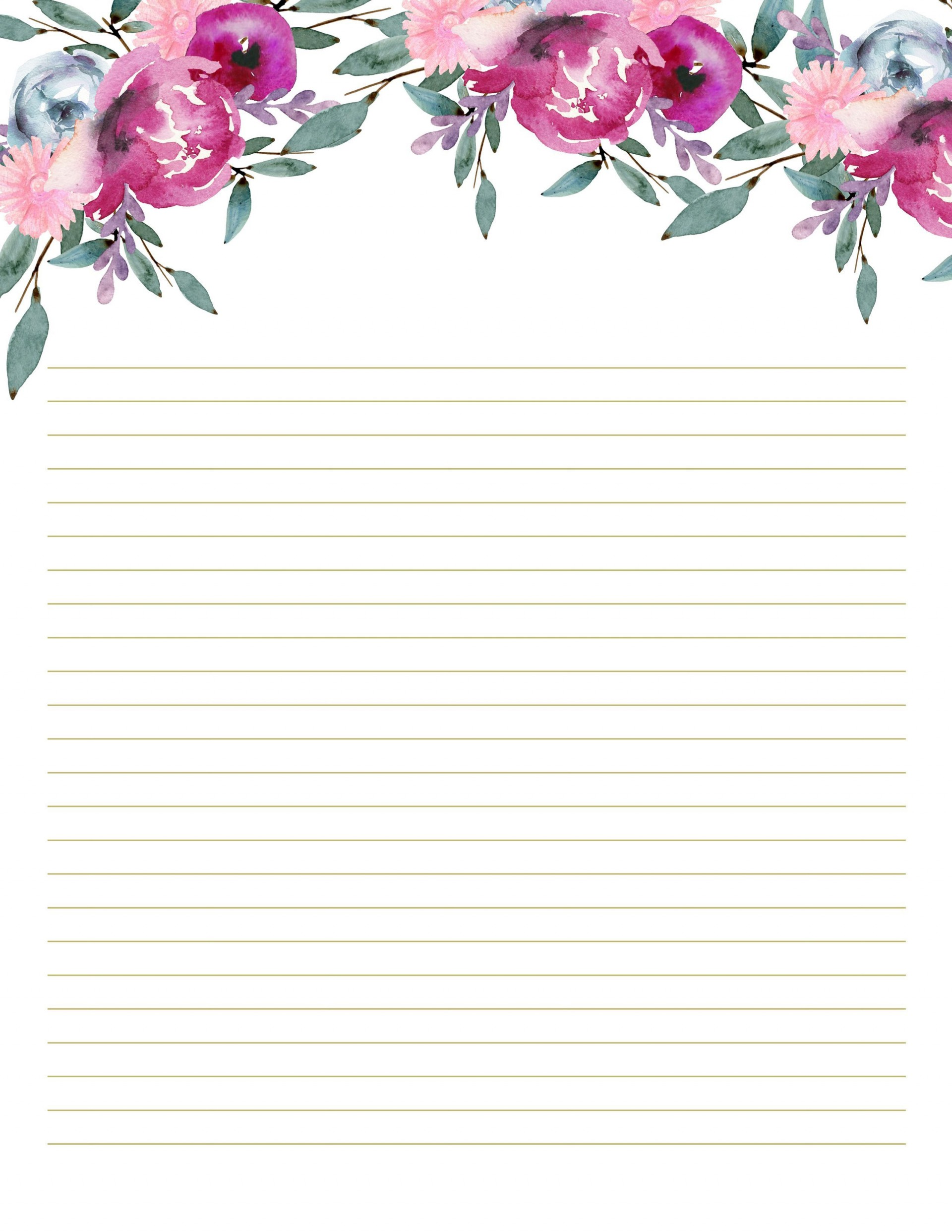 002 Unique Free Printable Stationery Paper Template High Resolution  Templates1920