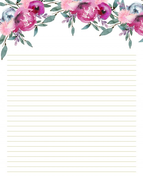 002 Unique Free Printable Stationery Paper Template High Resolution 480