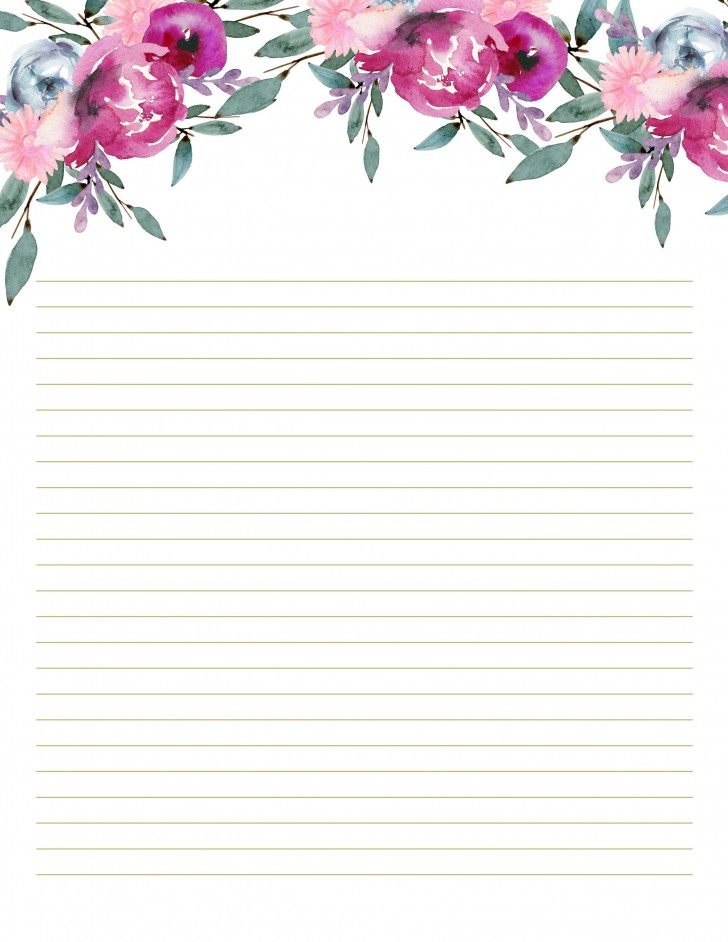 002 Unique Free Printable Stationery Paper Template High Resolution 728