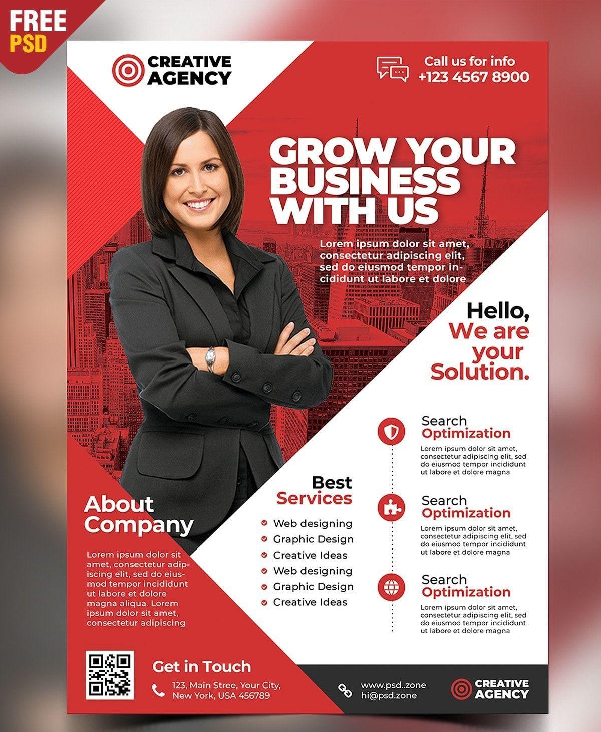 002 Unique Free Psd Busines Brochure Template Concept  Templates Flyer 2018 CorporateFull