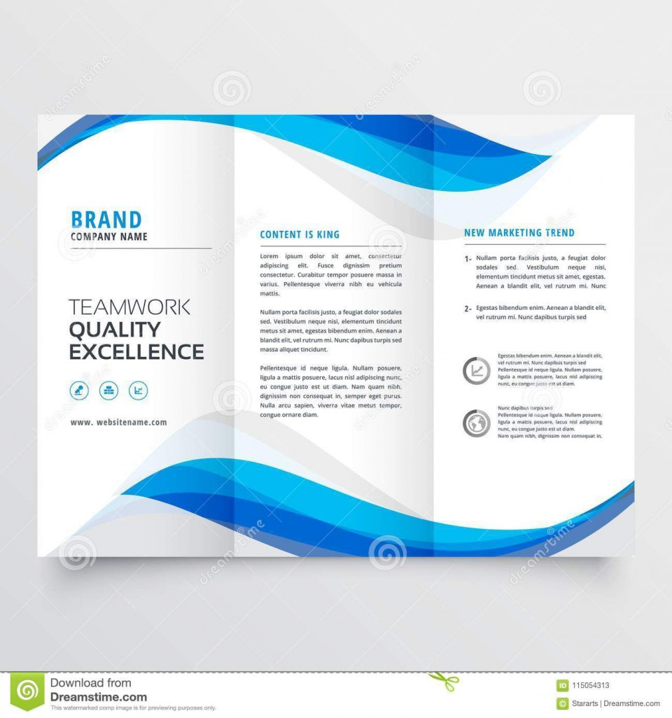 002 Unique Free Trifold Brochure Template High Def  Tri Fold Download Illustrator Publisher960