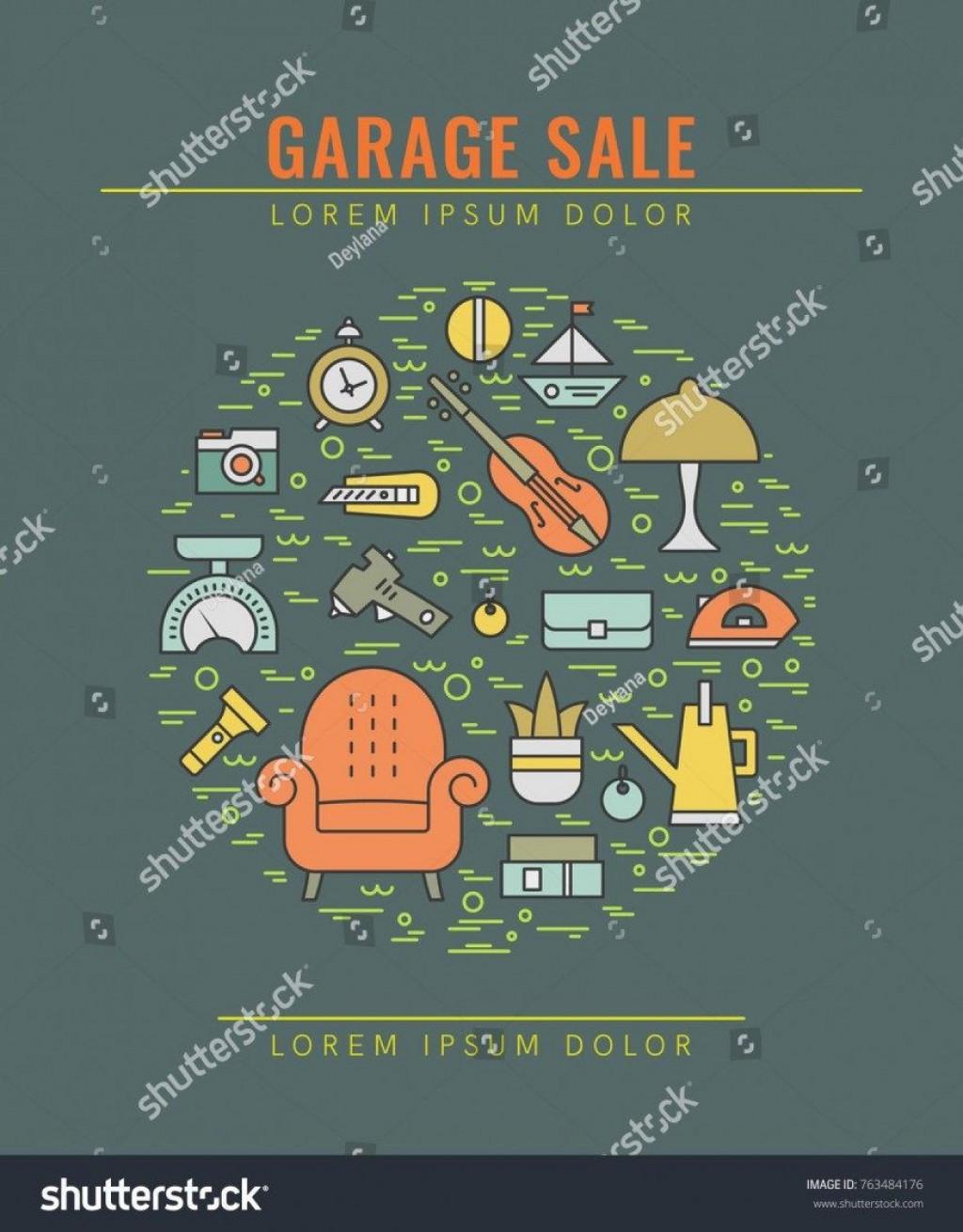 002 Unique Garage Sale Flyer Template Free Photo  Community Neighborhood YardLarge