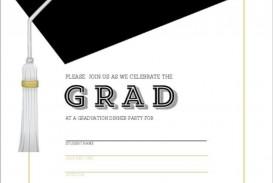 002 Unique Microsoft Word Graduation Invitation Template High Definition  Party