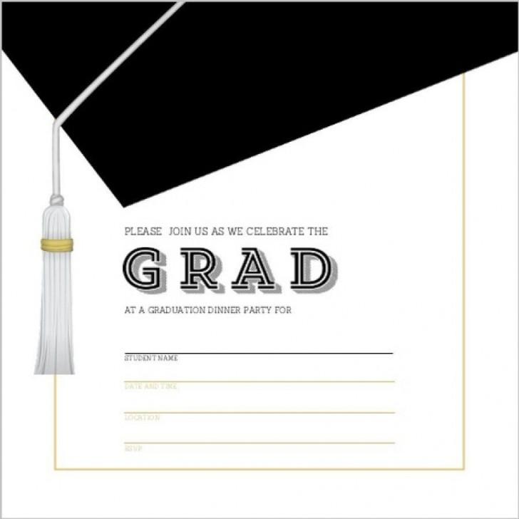 002 Unique Microsoft Word Graduation Invitation Template High Definition  Party728