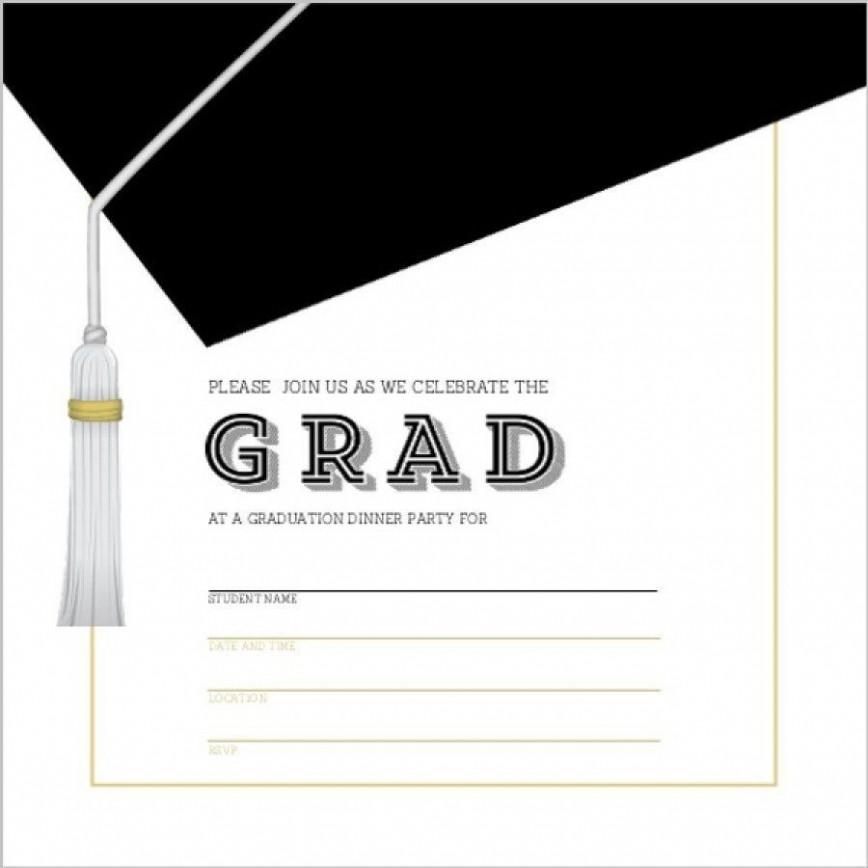 002 Unique Microsoft Word Graduation Invitation Template High Definition  Party868