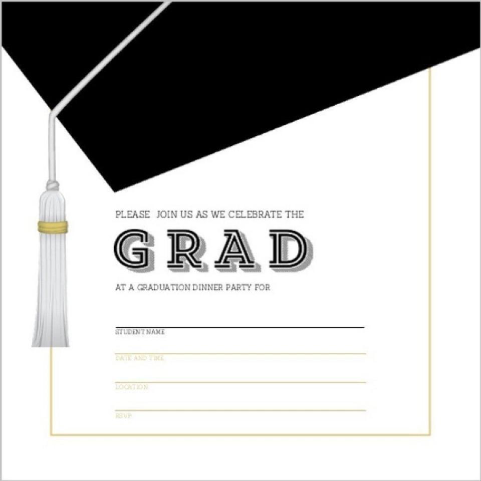 002 Unique Microsoft Word Graduation Invitation Template High Definition  Party960