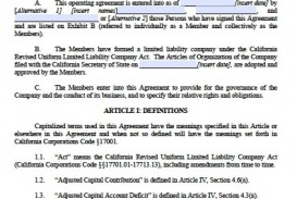002 Unique Operation Agreement Llc Template Design  Operating Florida Indiana Single Member California