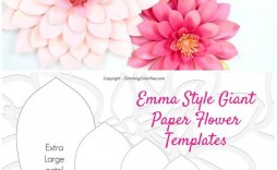 002 Unique Paper Flower Template Free Design  Large Extra Printable