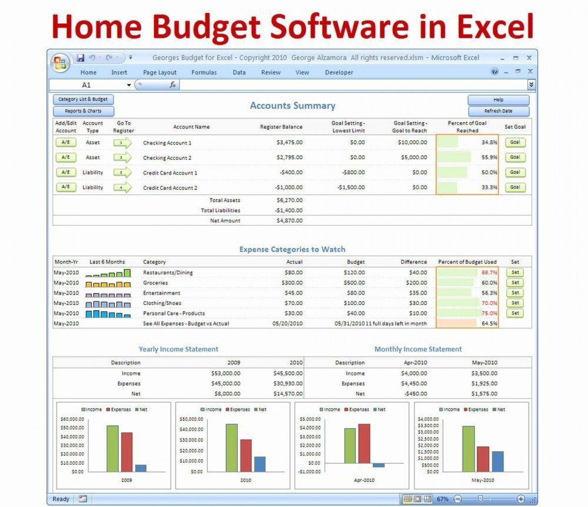 002 Unique Personal Budgeting Template Excel Design  Finance Free Expense Tracker Spreadsheet1920
