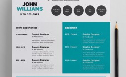 002 Unique Photoshop Cv Template Free Download Idea  Creative Resume Psd Adobe