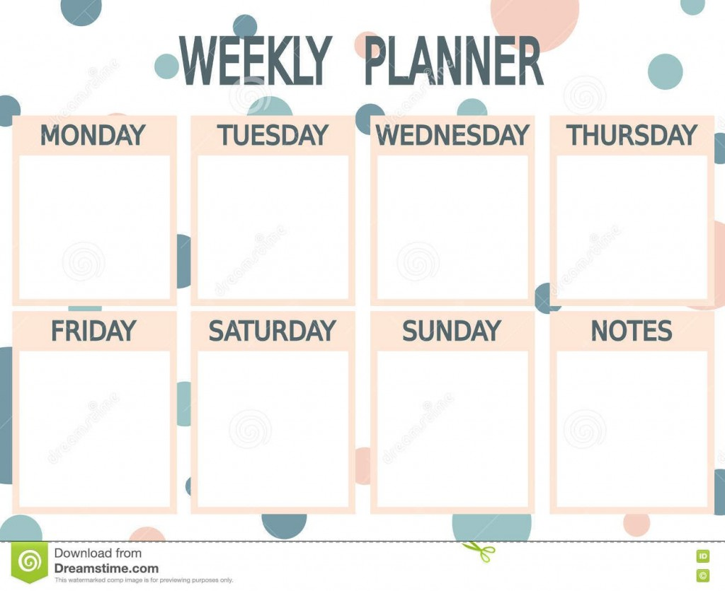002 Unique Printable Weekly Planner Template Cute High Definition  Free CalendarLarge