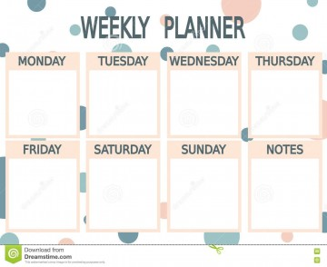002 Unique Printable Weekly Planner Template Cute High Definition  Free Calendar360