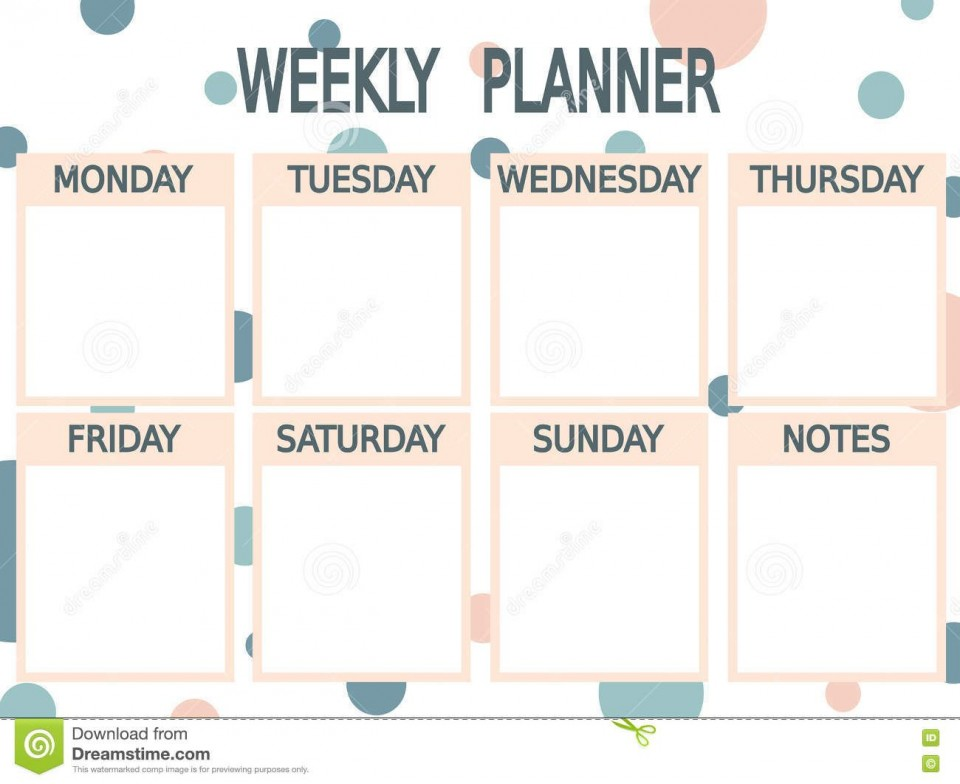 002 Unique Printable Weekly Planner Template Cute High Definition  Free Calendar960