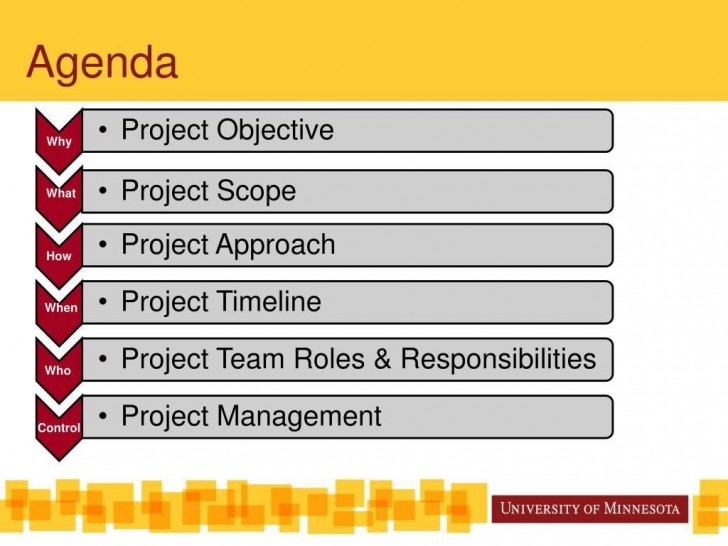 002 Unique Project Management Kickoff Meeting Agenda Template High Def 728