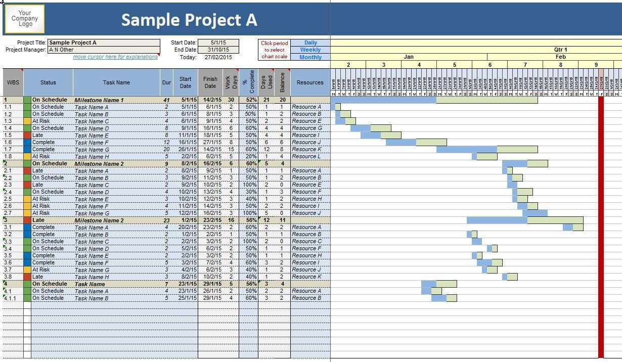 002 Unique Project Management Timeline Template Excel High Def  FreeFull