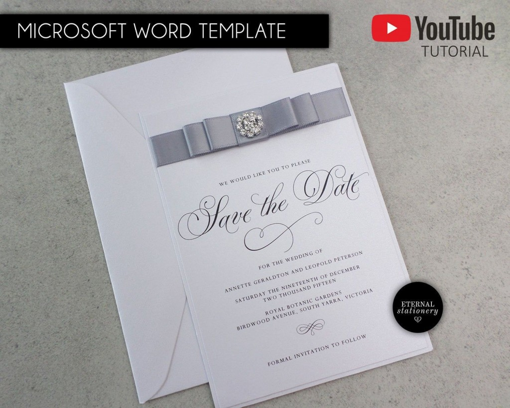 002 Unique Save The Date Word Template Idea  Free Birthday For Microsoft Postcard FlyerLarge