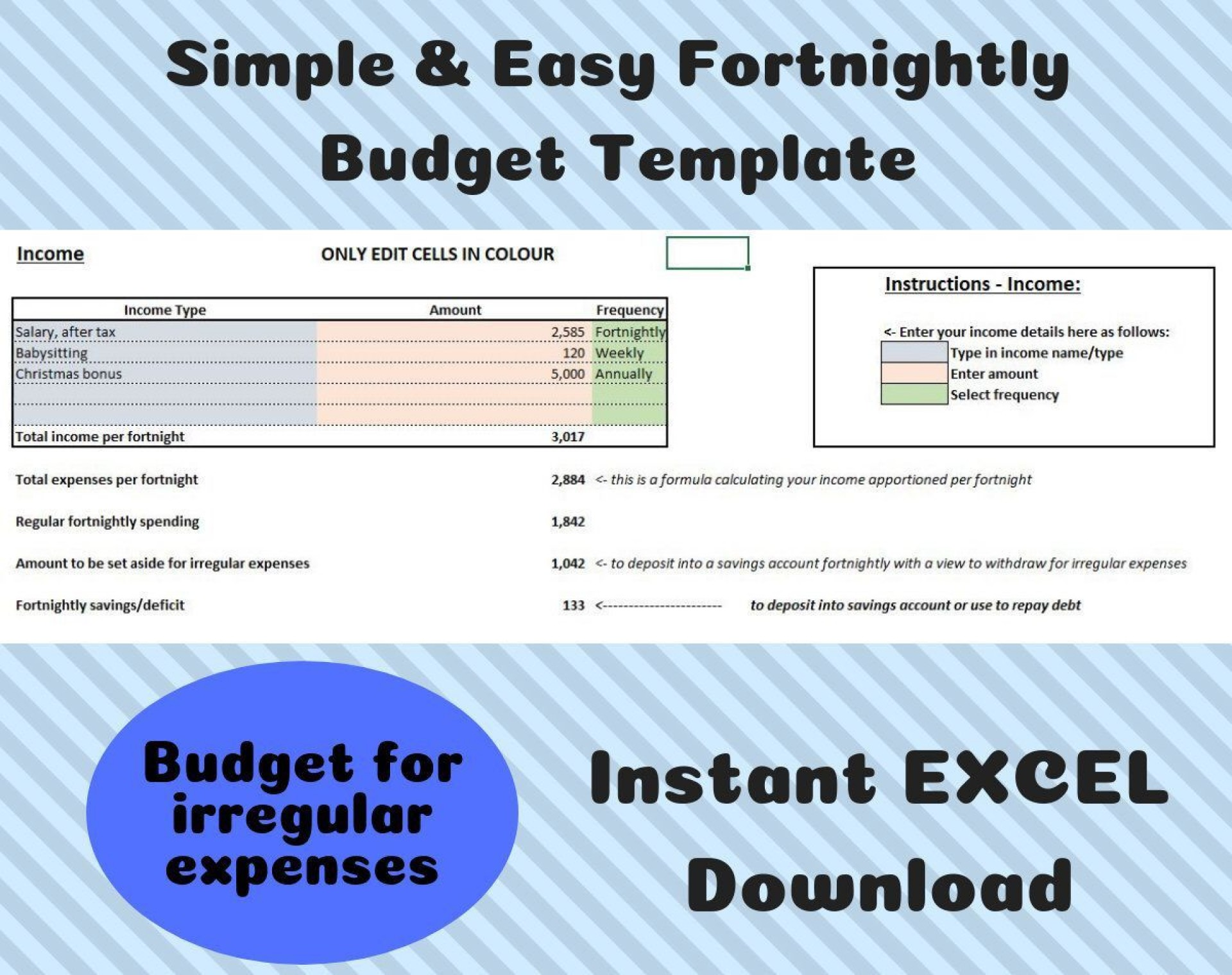002 Unique Simple Line Item Budget Template High Def 1920