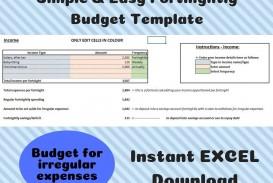 002 Unique Simple Line Item Budget Template High Def