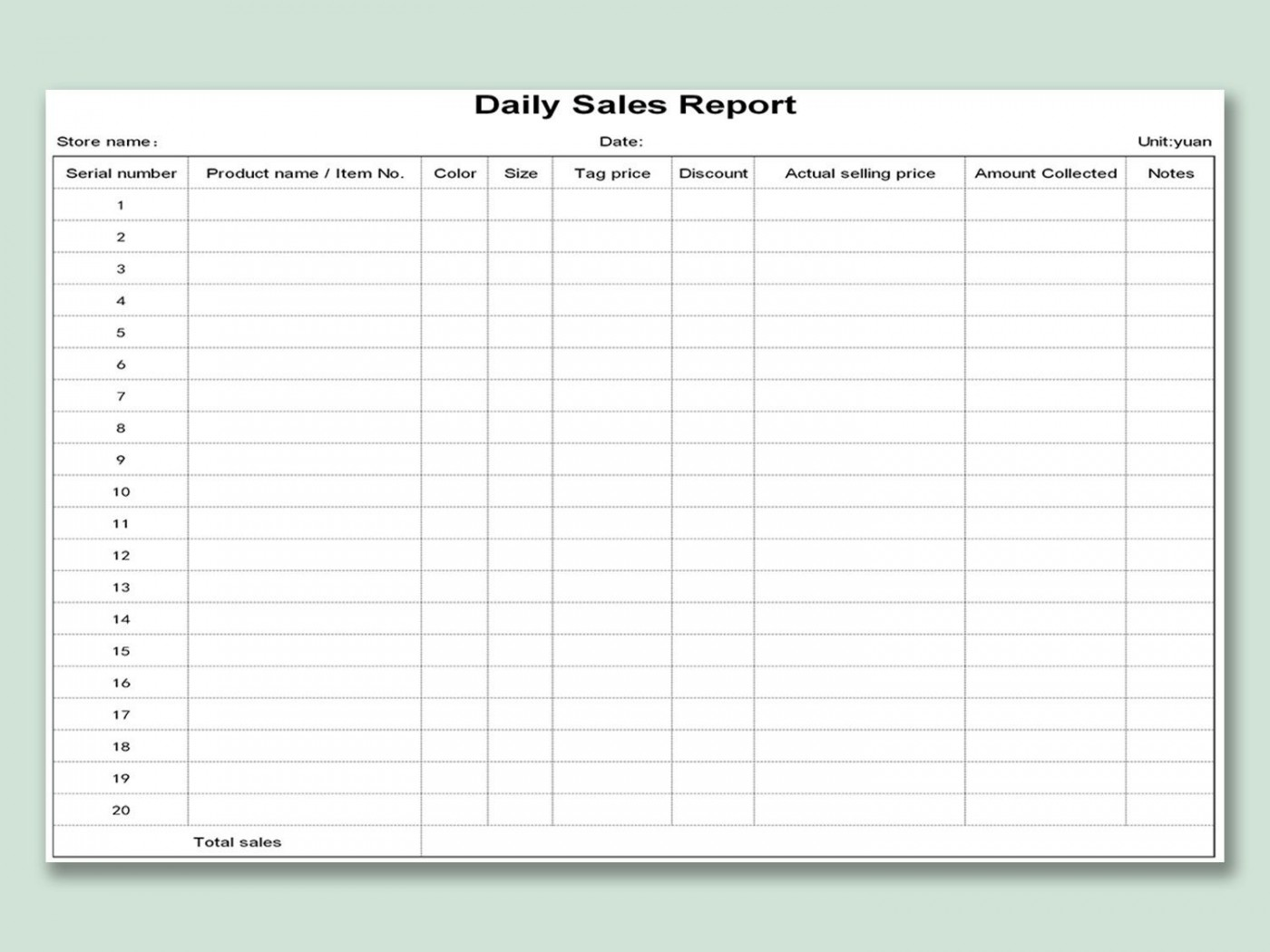 002 Unique Weekly Sale Report Template Highest Clarity  Free Download Call Example Xl1400