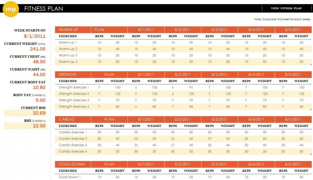 002 Unique Workout Schedule Template Excel Sample  Training Plan Download Weekly PlannerLarge