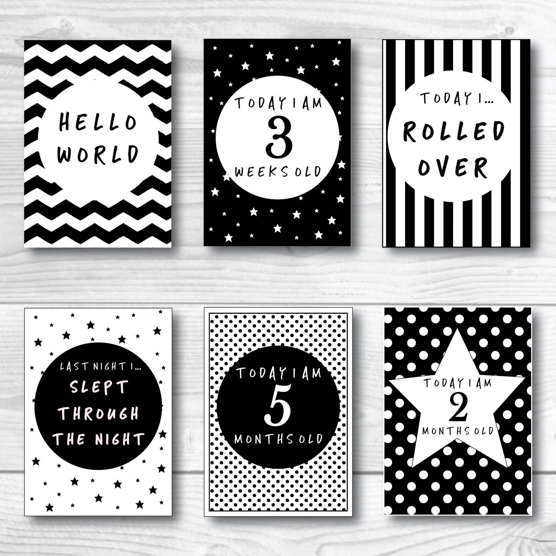 002 Unusual Baby Shower Card Printable Black And White High Resolution 1920
