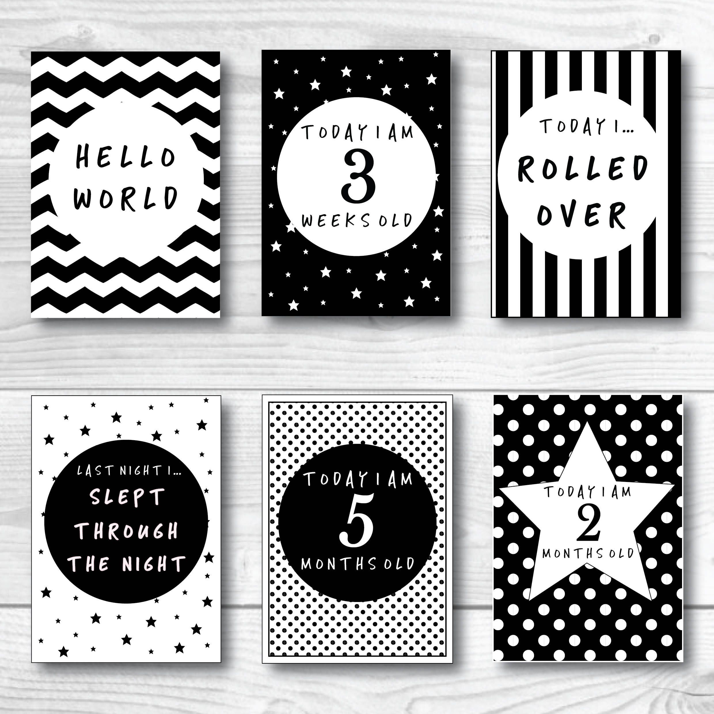 002 Unusual Baby Shower Card Printable Black And White High Resolution Full